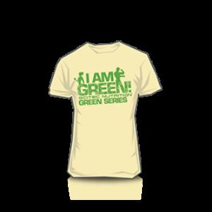 T-Shirt I Am Green férfi homok színű póló Scitec Nutrition